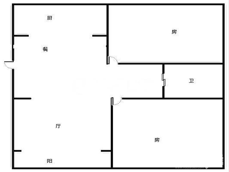 六合区雄州街道龙海北苑2室1厅户型图