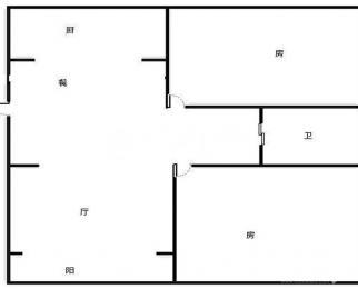 龙海北苑 精装两房 82平 南北通透 东西齐全 双语学区
