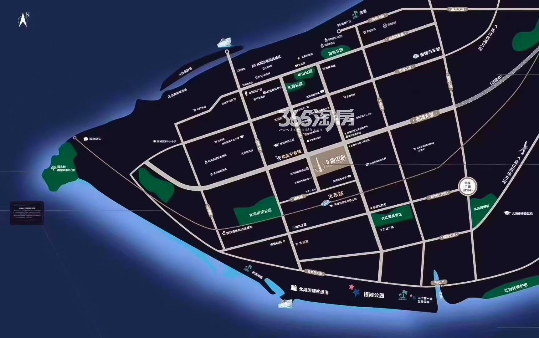 中信国安·北海第一城3号地块交通图