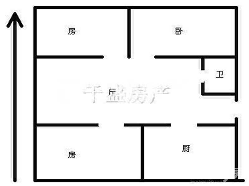 六合区雄州街道灵冶公寓3室1厅户型图