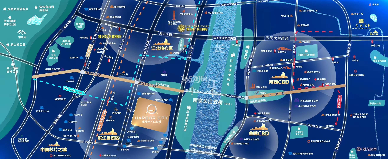 雅居乐汇港城交通图