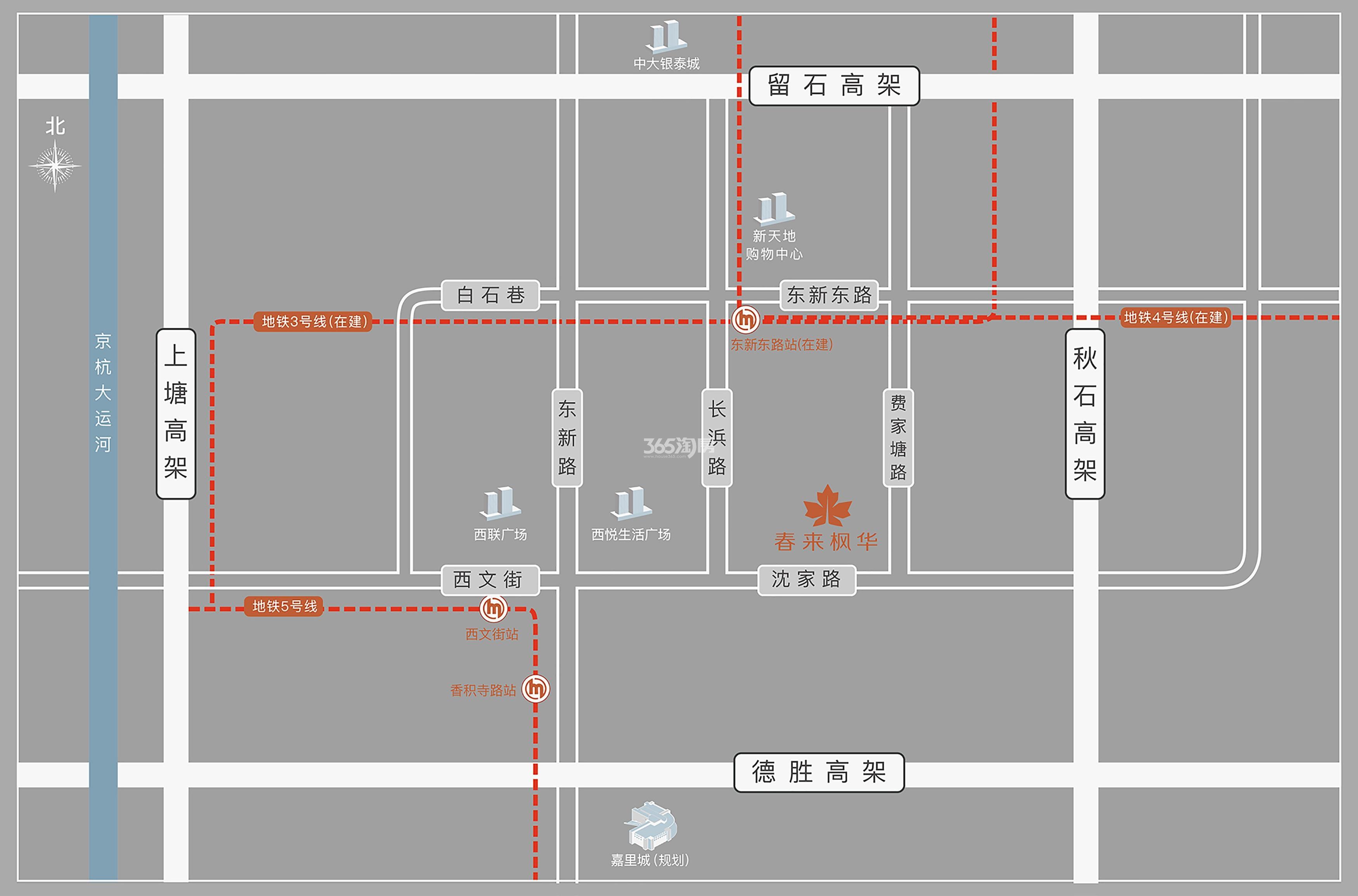 春来枫华公寓交通图
