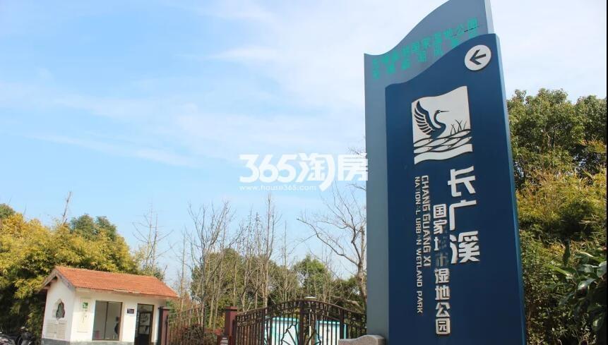 绿地天空树周边配套——长广溪湿地公园