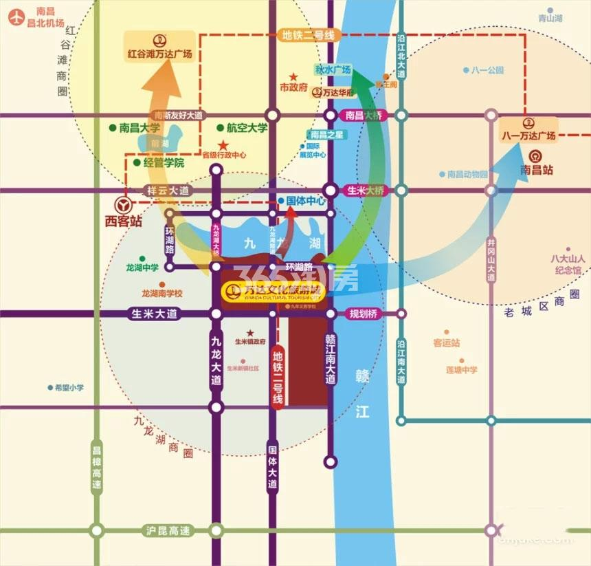 南昌万达城交通图