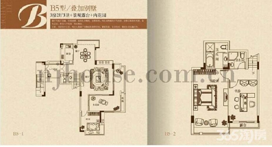 栖霞区仙林栖园3室2厅户型图