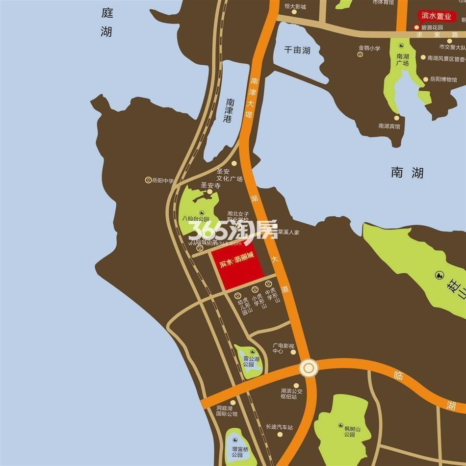 滨水·翡丽城交通图