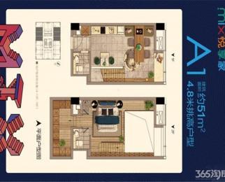 仙鹤门地铁站旁 魔力月光调高公寓双钥匙 商铺公寓调高4.8米