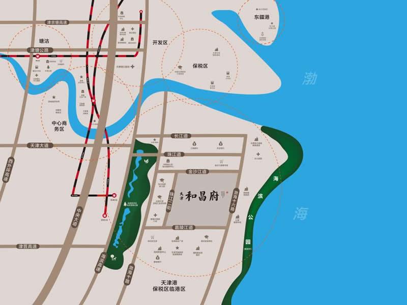 天津和昌府交通图