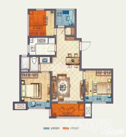 新城保利天地4室2厅1卫88平米精装产权房2018年建