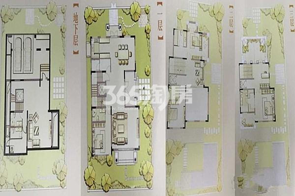 B2户型 4室3厅3卫1厨 建筑面积496㎡