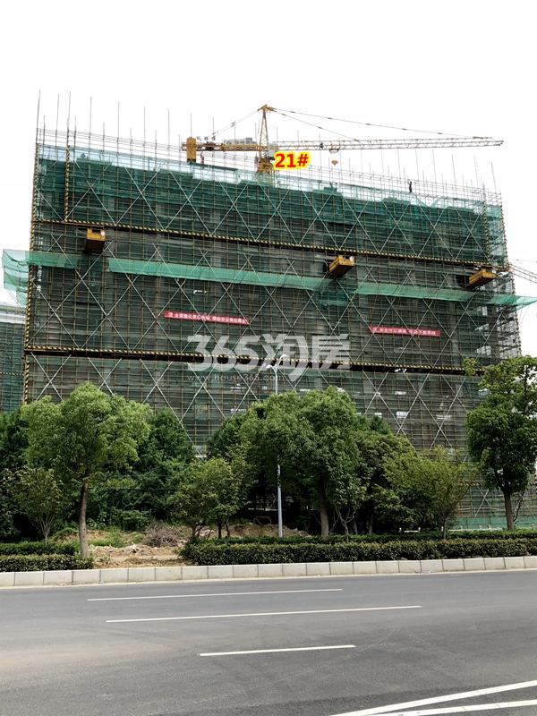 绿地天空树21#楼工程进度实景(2018.7摄)