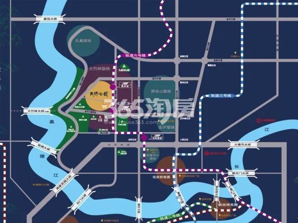 天骄公园交通图