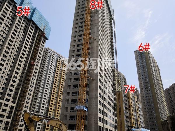 万科翡翠天地一期6、7#楼已封顶(5.28)