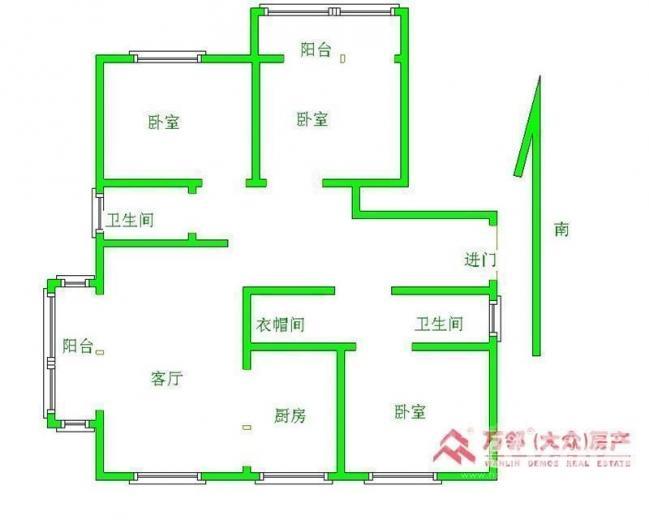 九龙仓时代上城3室2厅2卫144平毛坯单价1.7