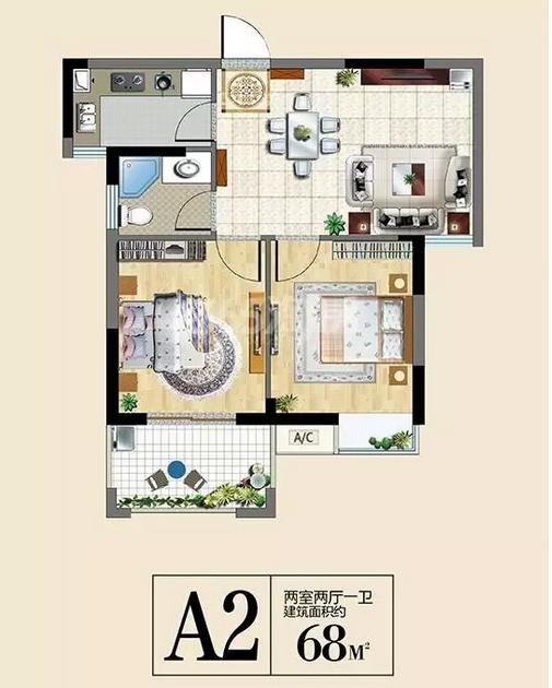 三潭音悦68平2室2厅