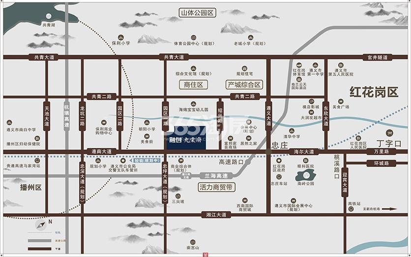 融创·九棠府交通图