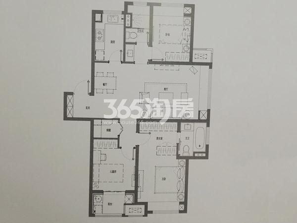 C户型115㎡三室
