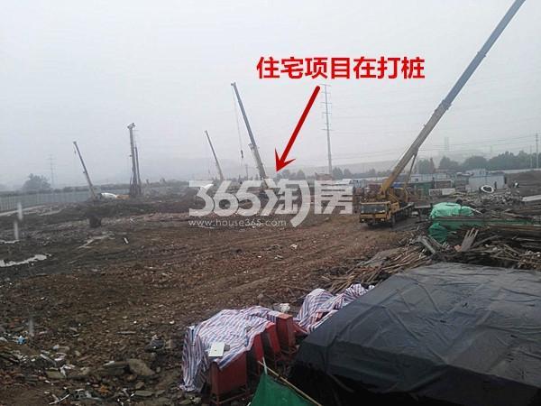 珍宝岛熙悦府住宅项目在打桩实景图(10.17)