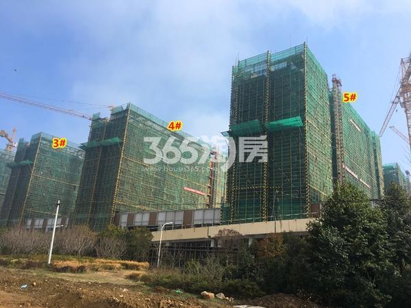绿地天空树3#、4#、5#楼洋房工程进度实景(2018.2摄)