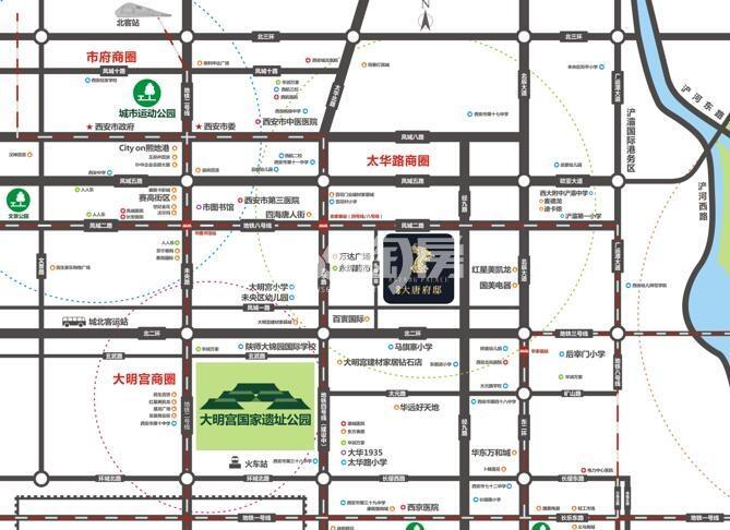 瑞和大唐府邸交通图