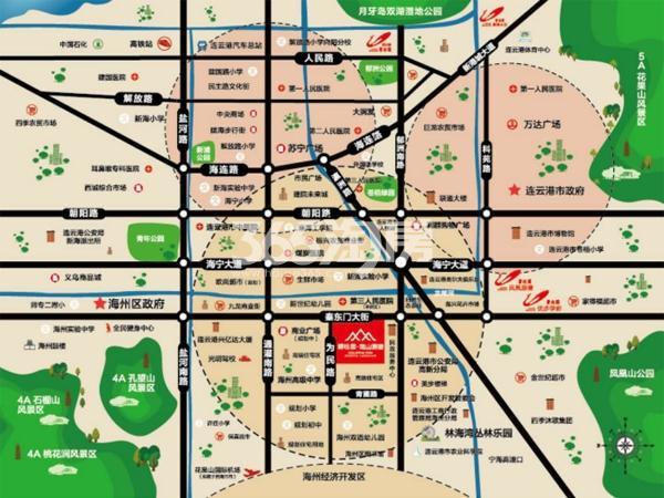 碧桂园观山源著交通图
