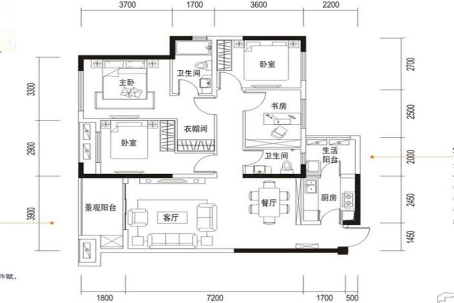 滨江和城户型图
