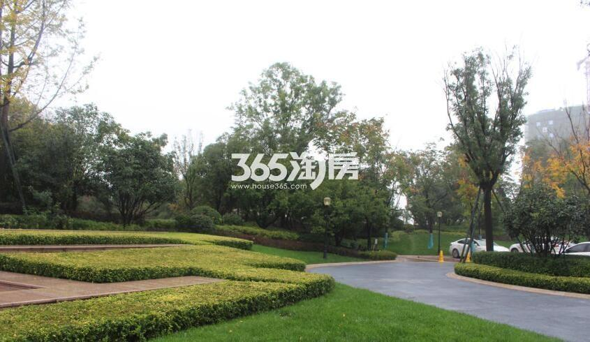 雅居乐湖居笔记营销中心园林实景(拍摄于2017.1.02)