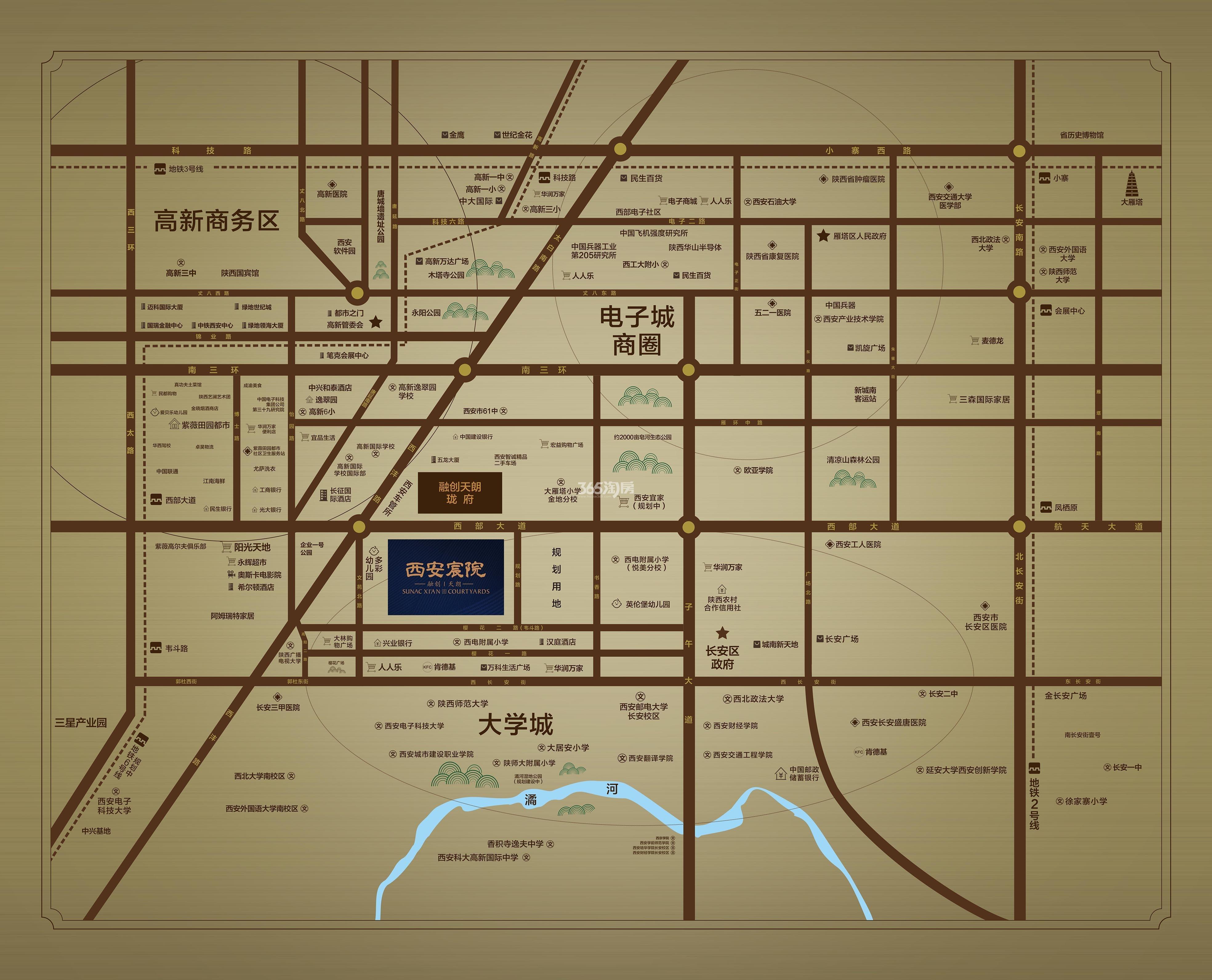 融创西安宸院交通图