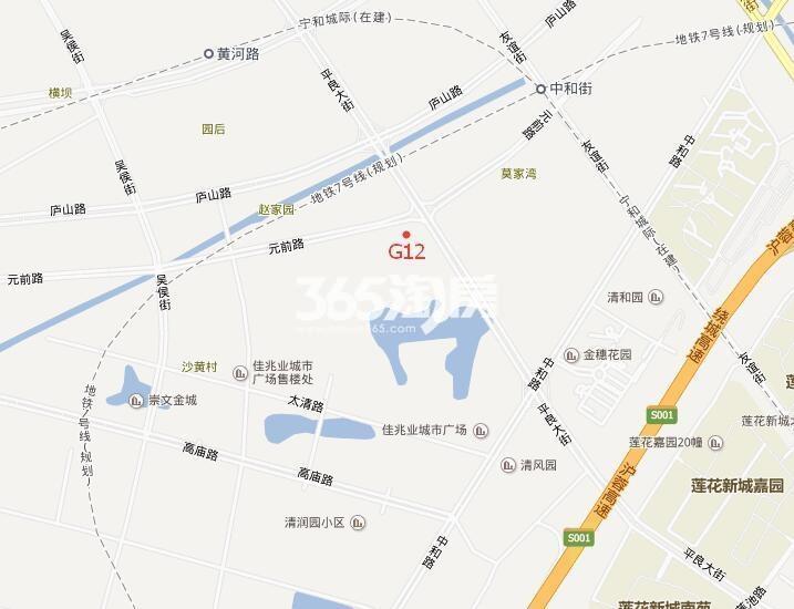 河西金茂府交通图