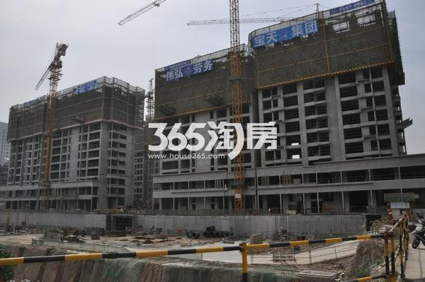 恒天国际城最新施工进度(拍摄于2017.5)