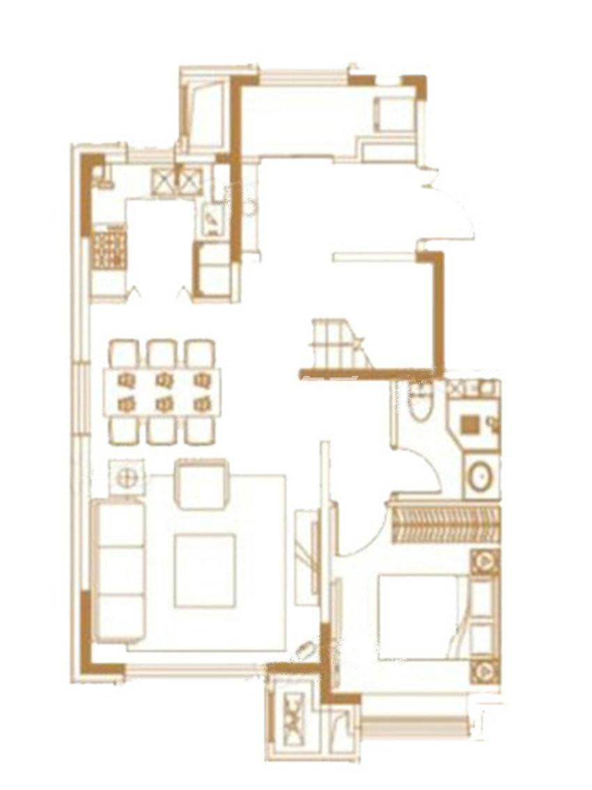户型图 下叠户型 149.00平米 四室