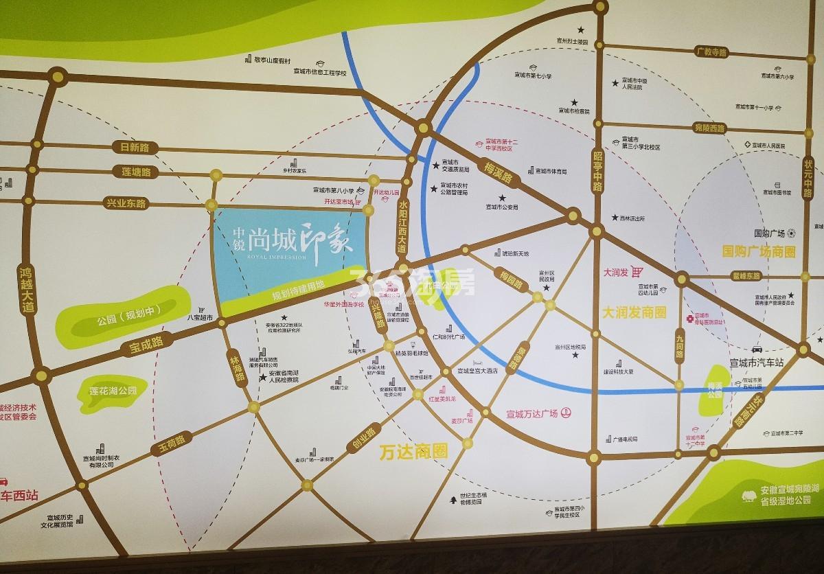 中锐尚城印象交通图