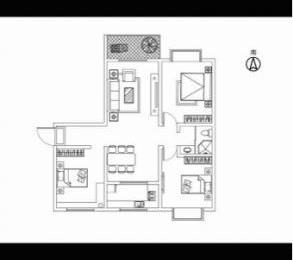 鸿路北城明珠2室2厅1卫96平米毛坯产权房2013年建满五年