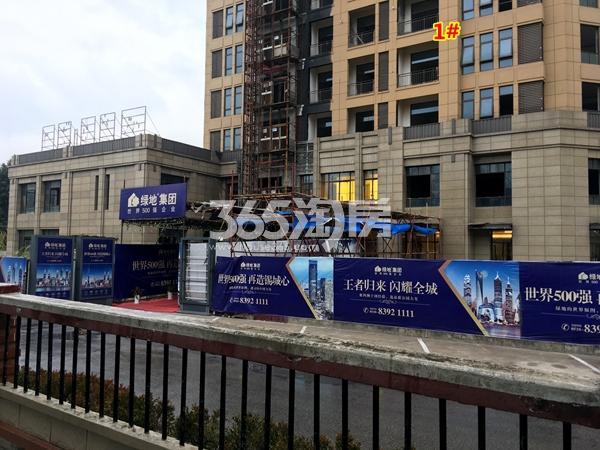 绿地・观澜湾全新售楼处工程进度实景图(2017.12摄)