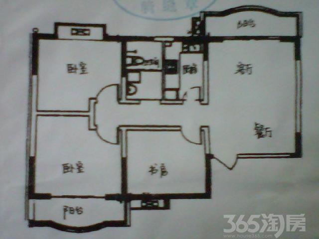 盛世嘉园3室2厅1卫108.64㎡2008年满两年产权房毛坯