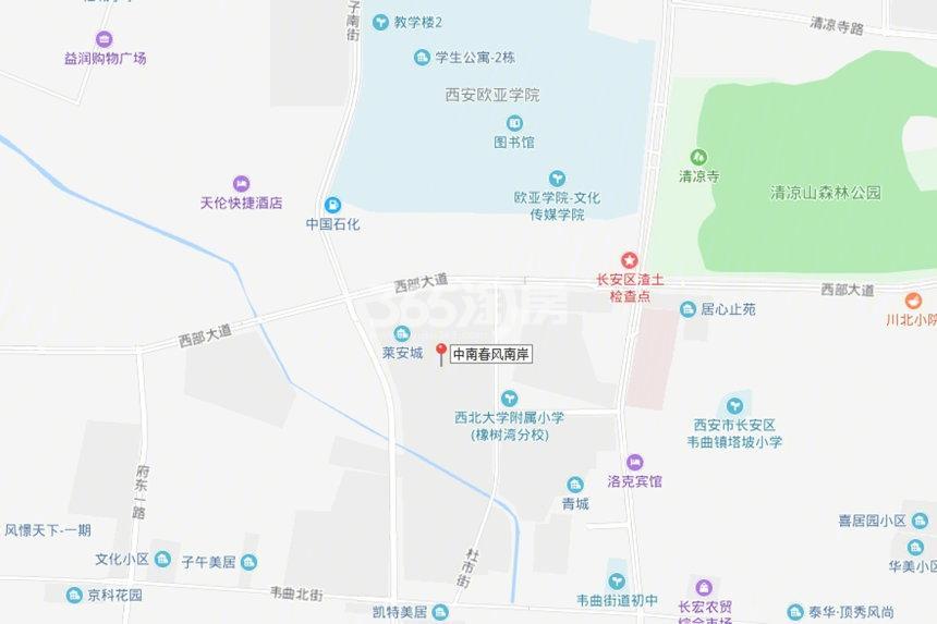 中南春风南岸交通图