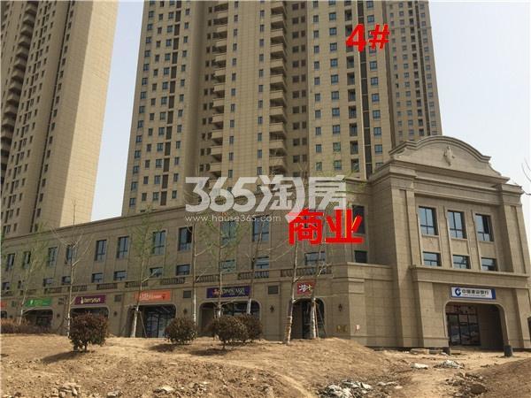 玉潭花溪4#和商业都已经封顶完成外立面工程(4.18)