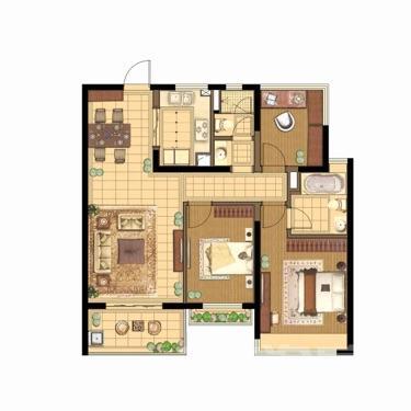 蓝光公园1号3室2厅2卫108平米豪华装产权房2018年建