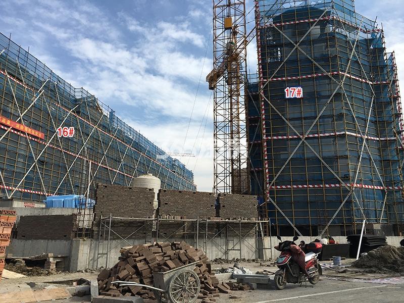 中国铁建西湖国际城16、17号楼实景图(2017.11)