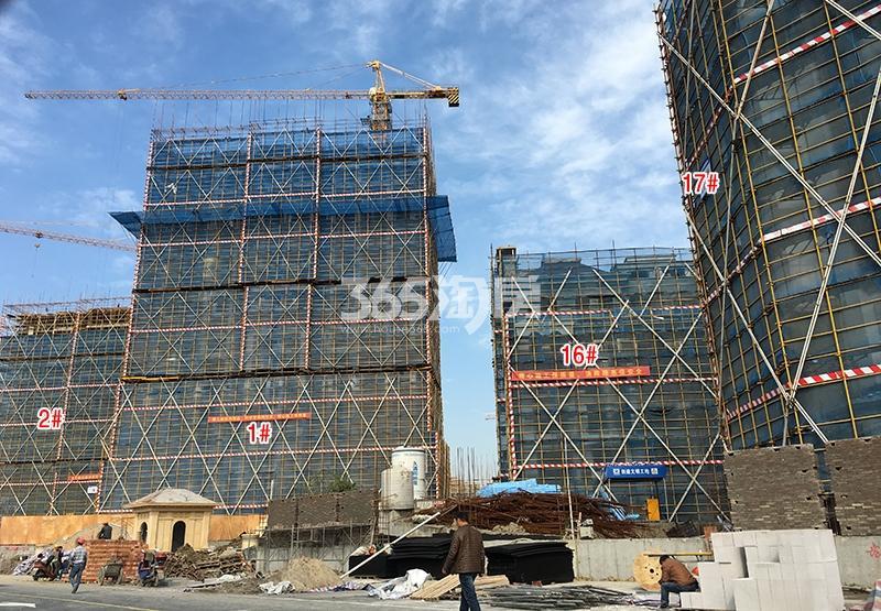 中国铁建西湖国际城1、2、16、17号楼实景图(2017.11)