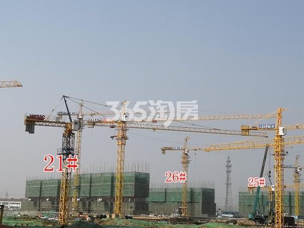 中梁香缇公馆高层21、26#楼建至约6层,洋房25#楼建至约4层(3.5)