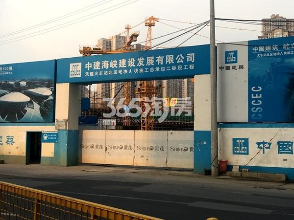 世茂时光里1#楼超高层工程实景(2017.11摄)