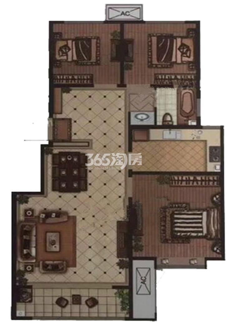 户型图 A户型 99.00平米 三室