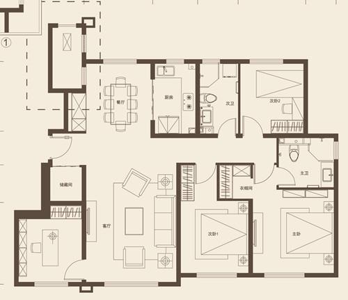140平米四室两厅两卫