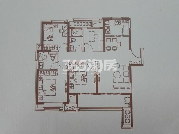 C户型108㎡三室