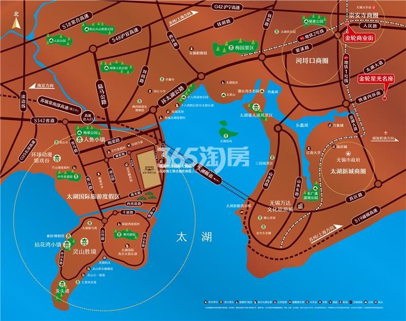 金轮湖晓兰庭交通图