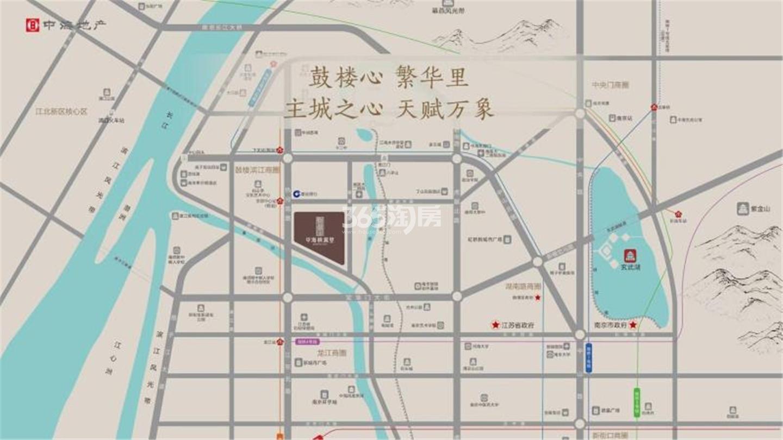 中海桃源铂公馆交通图