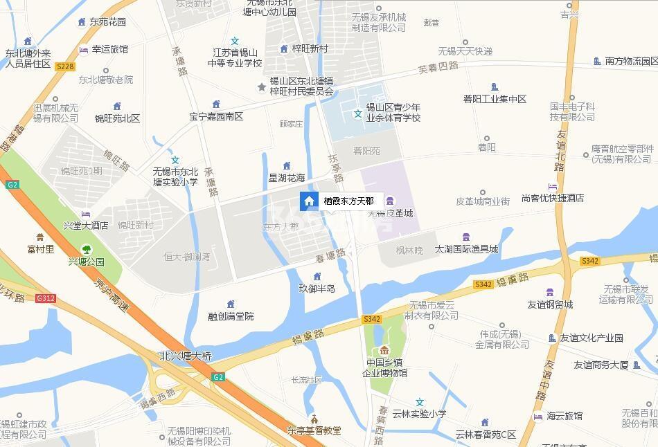 栖霞东方天郡交通图