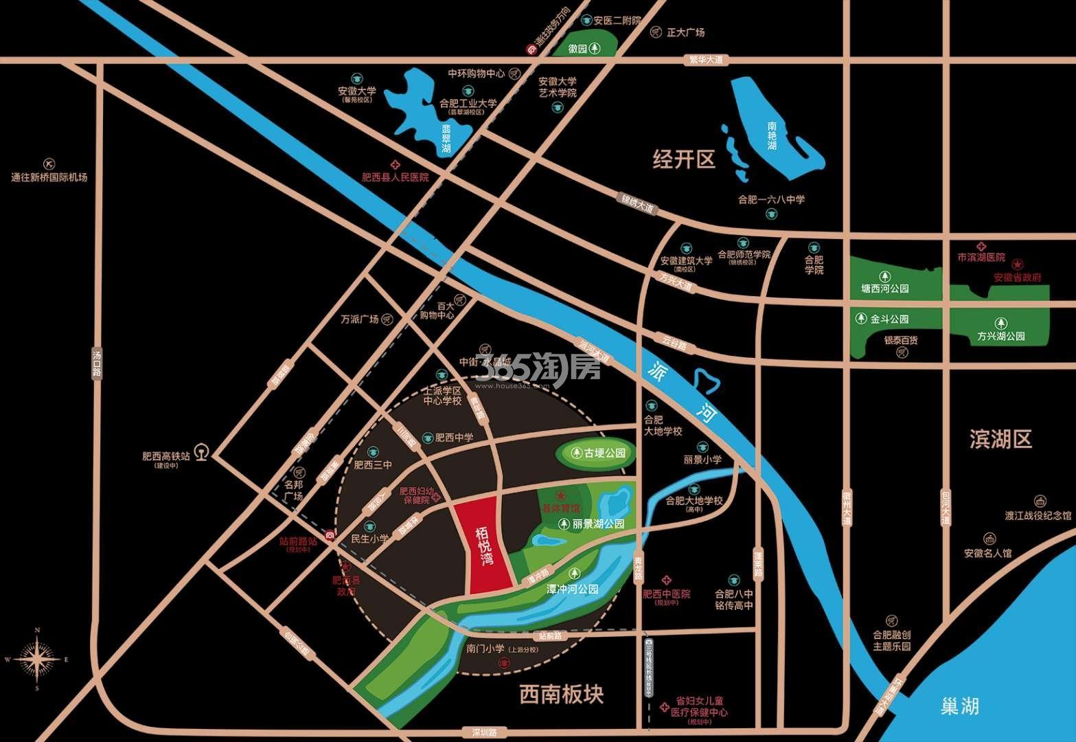 栢悦湾交通图