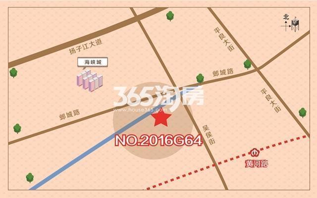 正荣河西南G64地块区位图